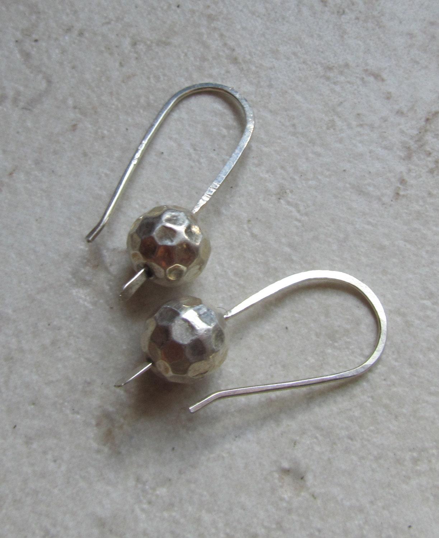 Simple silver drop earrings Minimalist by GretchenColeJewelry
