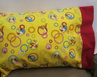 Pooh Bear Pillowcase  Toddler/Travel or Standard Size.