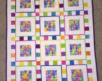 Multi Squares Baby Quilt