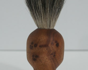shaving brush, badger hair, camphor burl