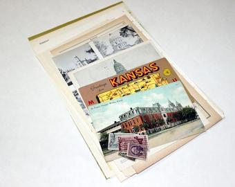 Kansas - United States Vintage Travel Collage Kit
