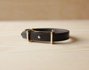 YC Fine Stitched Leather Bracelet(Black)
