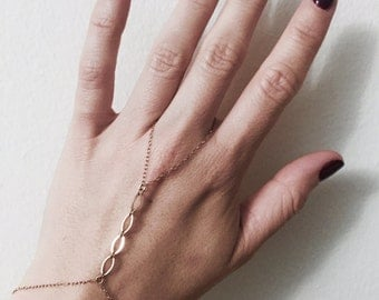delicate gold-filled chain handpiece