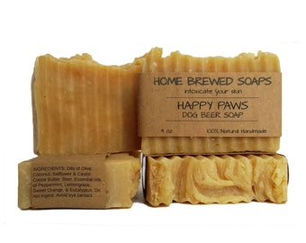 All Natural Dog Shampoo, Soap for Dogs, Beer Soap for Dogs, Dog Shampoo Bar,
