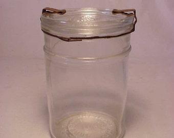 June 28, 1921 The Victory Jar Kivlan Onthank Victory Boston, Mass. Pint Size Canning Fruit Jar No. 1