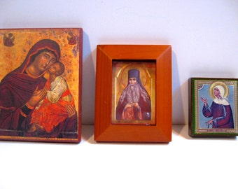 Take 20% Off THREE Lovely Russian Wood Icons