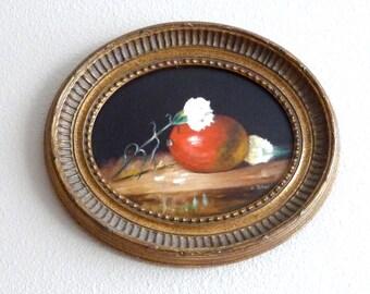 Mango and Carnations Original Still Life Framed