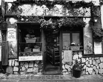 Paris Cafe Photos -  Kitchen Wall Art - Dining Room Cafe Art - Resturant Poulbot in Paris -  Paris Photography - la photographie de Paris
