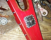 Barn Red Boot Jack with Square Steer Concho
