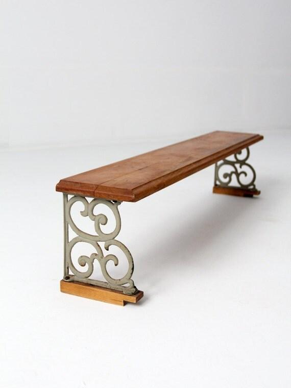 Vintage Shelf Wood And Iron Riser