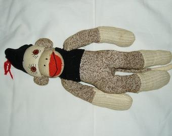 Vintage Sock Monkey Doll