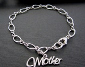 Jewelry Personalized Mothers Bracelet - Sterling Silver - Silver Bracelet - Silver Mother Bracelet - Charm Bracelet -  Mothers day Gifts