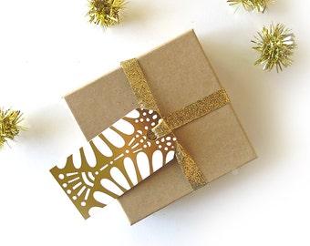 Gold Petal / Foil  Gift Tags / Set of Six