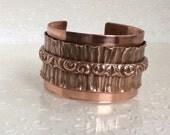 Copper Cuff Triple Layer Artisan Wide Cuff