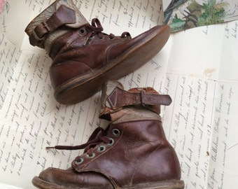 These Antique Worn Leather Paratrooper Childs Boot Went The Extra Mile With Support
