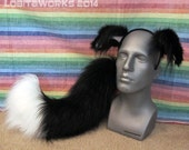 Border Collie Dog Ear/Tail Cosplay Set - MADE TO ORDER