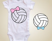 Volleyball baby one piece - Volleyball Bow tie or Hair bow