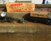 "Vintage 1950's "" LUMAR"", U.S ARMY Mobile Unit, toy set with original box!"