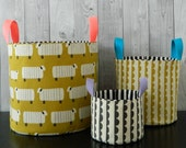 Nesting buckets pdf pattern / instant download , make stylish storage for your home