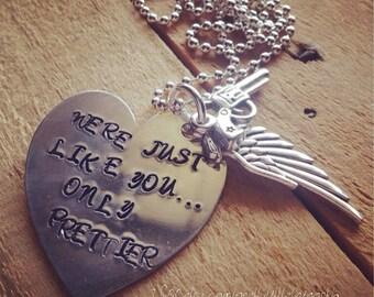 Hand Stamped Brass Necklace with Lyrics from Miranda Lambert