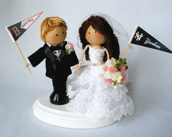 Custom Cake Toppers, Wedding Clothespin Dolls, Personalized To Match Your Wedding Attire