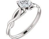 Forever One Moissanite 5mm 14K White Gold Engagement Ring   *************Specail  For  You*********** ST233816