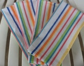 Colorful Pastel Striped Cloth Napkins Set of 4