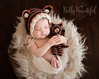 Newborn Photo Prop Crochet Pattern - Animal Hat Crochet Pattern - Newborn Crochet Pattern - Baby Hat Crochet Pattern - Baby Prop Pattern