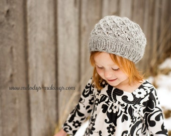 Knit Slouch Hat Pattern - Slouchy Hat Knitting Pattern - Slouchy Hat Pattern - Girl Hat Knitting Pattern - Child Hat Knitting Pattern