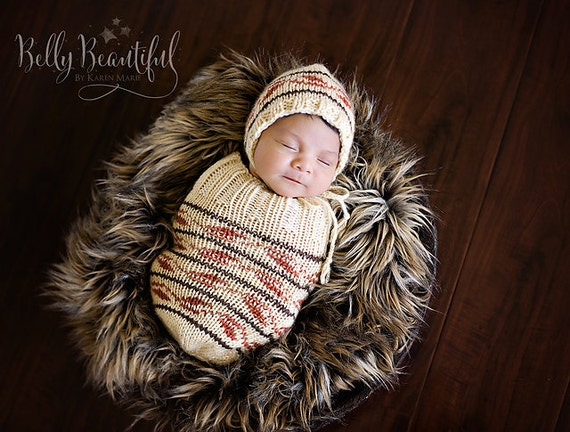 Knit Baby Cocoon Pattern - Knit Baby Sleep Sack Pattern - Knit Baby Sleep Cocoon Pattern