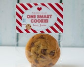 Printable One Smart Cookie Kids Valentine Topper