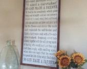 So God Made A Farmer -18x36  wood sign - Great gift for the Farmer