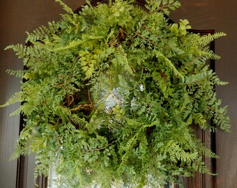 Summer Wreath , Fern Wreath , Front Door Wreath , Wreath , Woodland Wreath , Fern Wreath , Front Door Wreath , Year Round Wreath