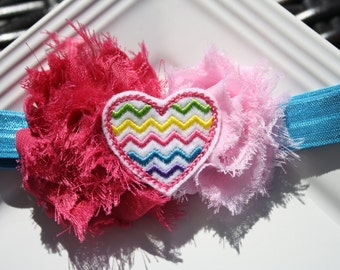 Chevron Heart Headband