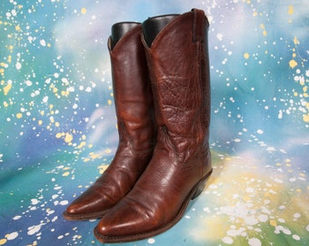 Brown Cowboy Boot Women's Size 7 M