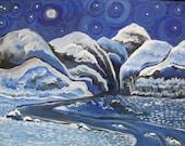 Moon River - original oil painting