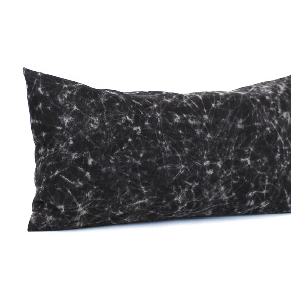 Decorative Black Lumbar Pillow : Lumbar Pillow Black Pillow Tie Dye Throw by couchdwellers