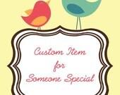 custom listing  for WENDY C.