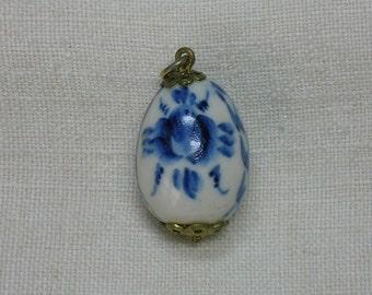 Antique Pendant: Russian Ghzel, Easter Egg, XB