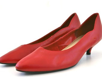 80's Red Pumps