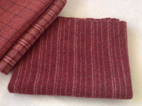 Wool for Rug Hooking and Applique,  Coverlet Red, Select a Size, J827