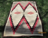 On hold for DanaRay  Vintage Native American Navajo Rug, Handmade Rug, Native American Indian Rug, Textile Weaving, Handcrafted Rug