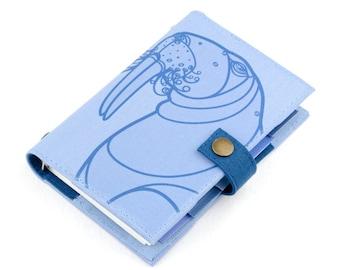 Walrus, Planner, Organizer, Personal Planner, Personal organizer, student, calendar, weekly, agenda, monthly, daily, notebook, handmade