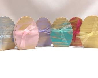 Easter Egg, Easter Decoration, Easter Sunday Table Decoration, Wooden Easter Eggs, Pastel Wooden Distressed Easter Eggs