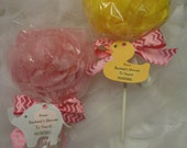Reserve for 75-Personalized Baby Shower Favor/Shower Pouf Lollipos