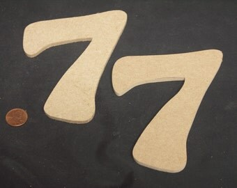 """Hand Cut Alphabets-Numbers, Pack of 2 """"7"""", 4"""" Tall, Blank, Ready for your art work"""