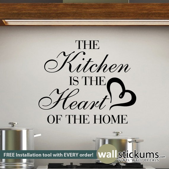 Items Similar To Wall Quote The Kitchen Is The Heart Of