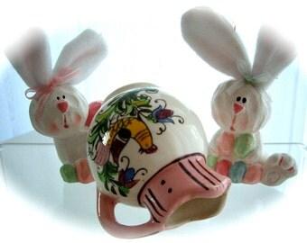 Vintage Japan Pottery Handpainted Pitcher Decor 1950s