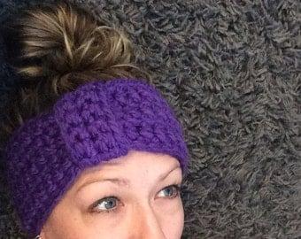 Chunky Passion Purple Ear Warmer; headband