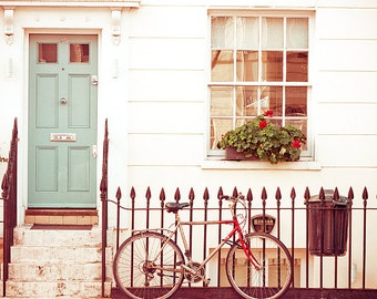 "Fine art print, ""London Bike"", large art print, door photography, London art print, Bicycle print"